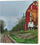 Old Mill On The Tracks Wood Print by Julie Dant
