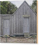 Old Post Office In Melbourne Beach Wood Print by Allan  Hughes