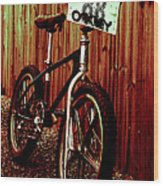 Old School Bmx - Jag Wood Print by Jamian Stayt
