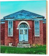 Old Schoolhouse Wood Print by Julie Dant