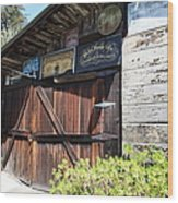 Old Storage Shed At The Swiss Hotel Sonoma California 5d24459 Wood Print by Wingsdomain Art and Photography