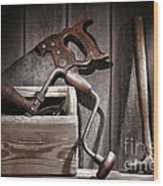 Old Tools Wood Print by Olivier Le Queinec