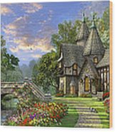 Old Waterway Cottage Wood Print by Dominic Davison