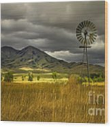 Old Windmill Wood Print by Robert Bales