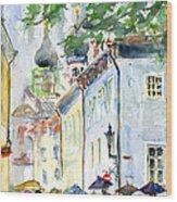 Oldtown Tallinn Estonian Wood Print by John D Benson