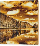 On Golden Pond Wood Print by David Patterson
