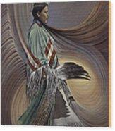 On Sacred Ground Series I Wood Print by Ricardo Chavez-Mendez