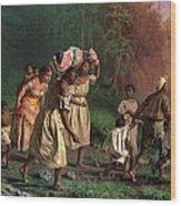 On To Liberty Wood Print by Theodor Kaufmann