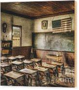 One Room School Wood Print by Lois Bryan