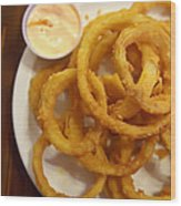 Onion Rings Wood Print by Kay Pickens