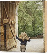 Open Gate Wood Print by Heiko Koehrer-Wagner