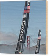 Oracle Team Usa - 1 Wood Print by Gilles Martin-Raget