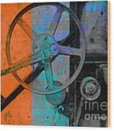 Orange And Blue  Wood Print by Ann Powell