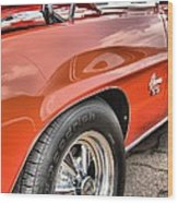 Orange Chevelle Ss 396 Wood Print by Dan Sproul