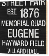 Oregon College Town Wall Art Wood Print by Replay Photos