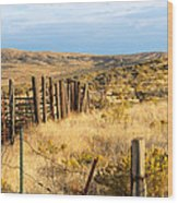 Oregon Corral Wood Print by Betty LaRue