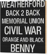 Oregon State College Town Wall Art Wood Print by Replay Photos