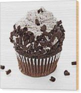 Oreo Cookie Cupcake Wood Print by Andee Design