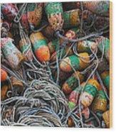 Organised Chaos Wood Print by Elena Nosyreva