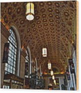 Ornate Entryway Wood Print by Frozen in Time Fine Art Photography