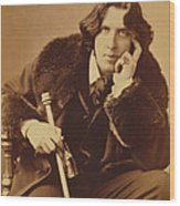 Oscar Wilde 1882 Wood Print by Napoleon Sarony