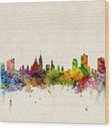 Ottawa Skyline Wood Print by Michael Tompsett