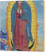 Our Lady Of Guadalupe-new Dawn Wood Print by Mark Robbins