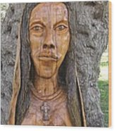 Our Lady Olive Wood Sculpture Wood Print by Eric Kempson