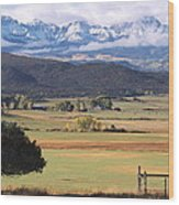 Ouray County Wood Print by Eric Glaser