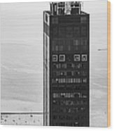Outside Looking In - Willis Tower Chicago Wood Print by Adam Romanowicz