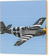 P-51 Mustang Fighter Wood Print by Puget  Exposure