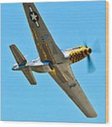 P-51 Mustang Wing Over Wood Print by Puget  Exposure