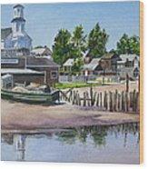 P' Town Boat Works Wood Print by Karol Wyckoff