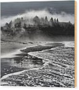 Pacific Island Fog Wood Print by Adam Jewell
