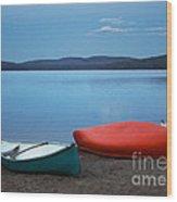 Paddle's End Wood Print by Barbara McMahon