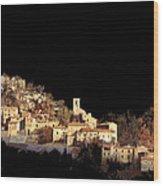 Paesaggio Scuro Wood Print by Guido Borelli