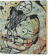Pain Erupts Everywhere Original Wood Print by Mark M  Mellon
