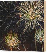 Paint The Sky With Fireworks  Wood Print by Saija  Lehtonen