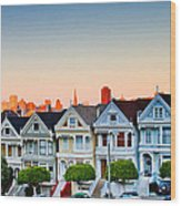 Painted Ladies Wood Print by Bill Gallagher