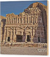 Palace Tombin Nabataean Ancient Town Petra Wood Print by Juergen Ritterbach