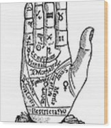 Palmistry Chart, 1885 Wood Print by Granger