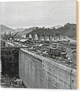 Panama Canal Construction 1910 Wood Print by Photo Researchers