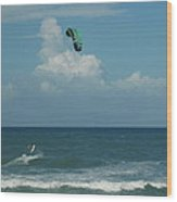 Para Surfing The Atlantic Wood Print by Sheri Heckenlaible