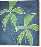 Paradise Palm Trees Wood Print by Linda Woods