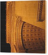 Paris France - Arc De Triomphe - 01132 Wood Print by DC Photographer