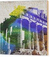 Parthenon Wood Print by Aged Pixel