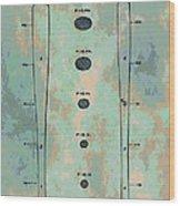 Patent Art Baseball Bat Wood Print by Dan Sproul