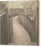 Pathway Wood Print by Melissa Petrey