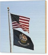 Patriotic Flags Wood Print by Joseph Baril