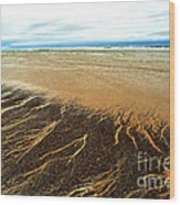 Patterns In The Tides Wood Print by Artist and Photographer Laura Wrede